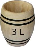 Tonneau de 3 litres
